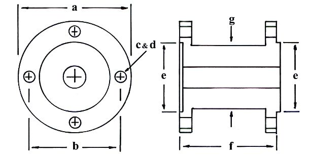 Bobbin Shaft Coupling Dimensions Diagram